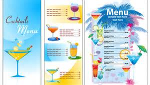 Bar menu templates free