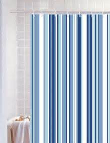 Blue And White Bathroom Designs - bathroom striped shower curtains stripe blue polyester shower curtain blue canyon interior