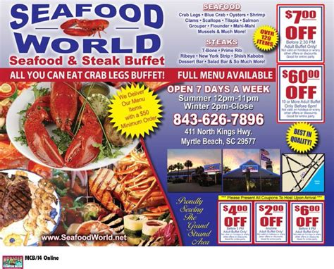 186 Best Images About Coupons For Myrtle Beach On Seafood Buffet Coupon