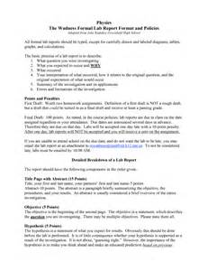 physics lab report template formal lab report template physics 7 formal lab report