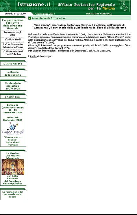ufficio scolastico regionale macerata centro studi civitanovesi sibilla aleramo