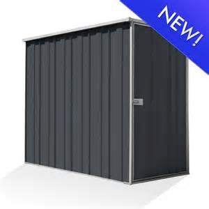 slimline f36 flat roof 2 105m x 1 07m side entry shed