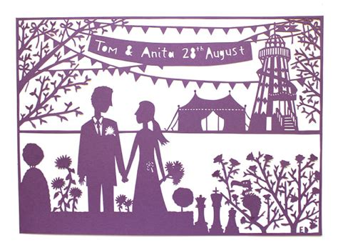 wedding papercut template made by ed helter skelter wedding anniversary paper