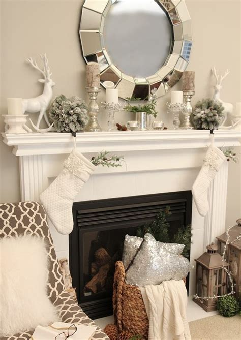 How To Decorate Fireplace Mantel 36 Neutral And Organic Winter D 233 Cor Ideas Digsdigs