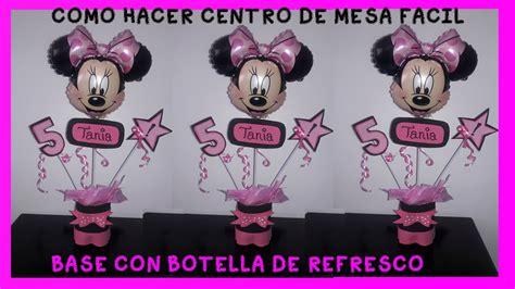 decorar botellas minnie como hacer centro de mesa minnie mouse rosa con botellas