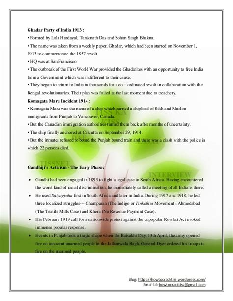 Mba History In India by Important Gk On Modern India History For Mba