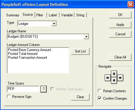 Peoplesoft Nvision by Defining Ledger Criteria