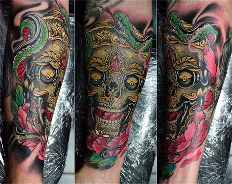 tibetan skull tattoo designs tibetan skull color tattoos