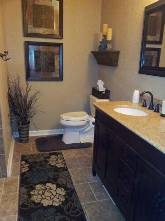 the usage of brown color in bathroom decoration house