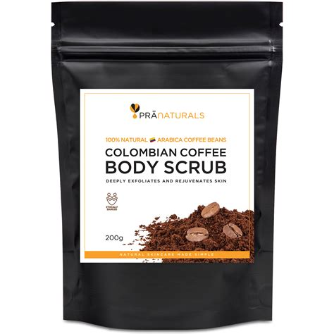 Coffee Detox Scrub pranaturals coffee beans scrub anti