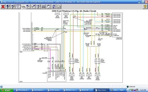 the wiring diagram i for my 2000 windstar doesn t