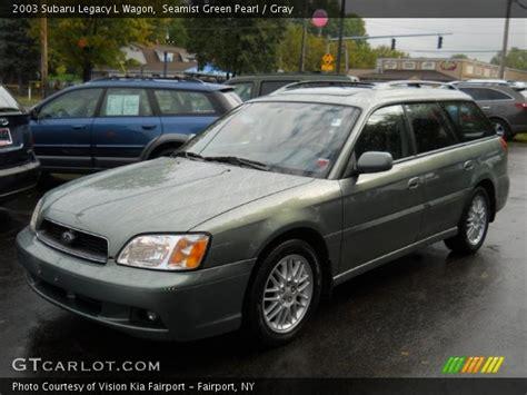 2003 Subaru Legacy Wagon by Seamist Green Pearl 2003 Subaru Legacy L Wagon Gray