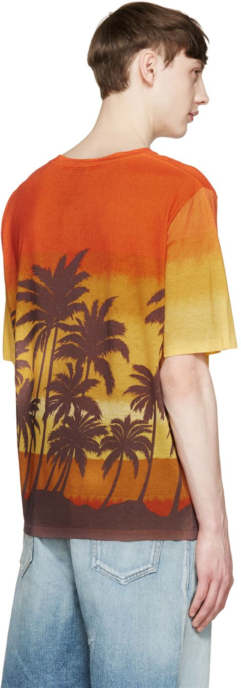 Tree Shirt St T1310 1 laurent multicolor palm tree t shirt for lyst