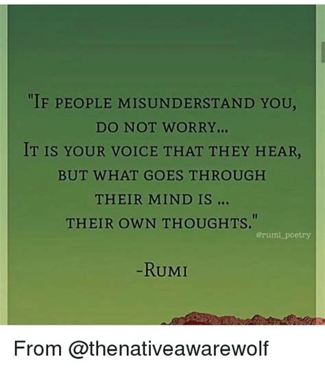 Rumi Memes - if people misunderstand you do not worry it is your voice