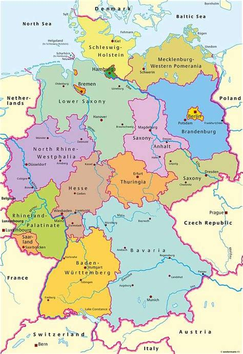 germany map and surrounding countries map of germany and surrounding countries travel maps and