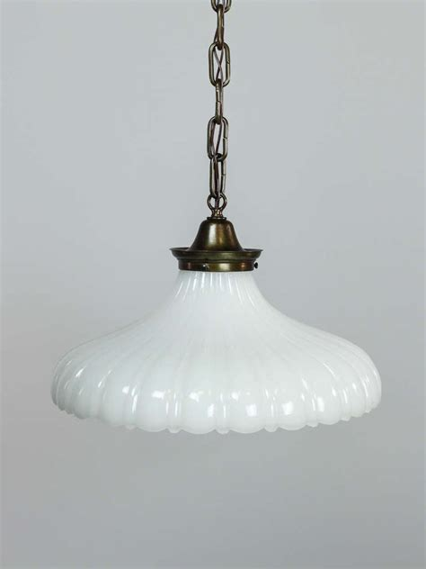 Hanging Glass Light Fixtures Milk Glass Pendant Light Fixture At 1stdibs