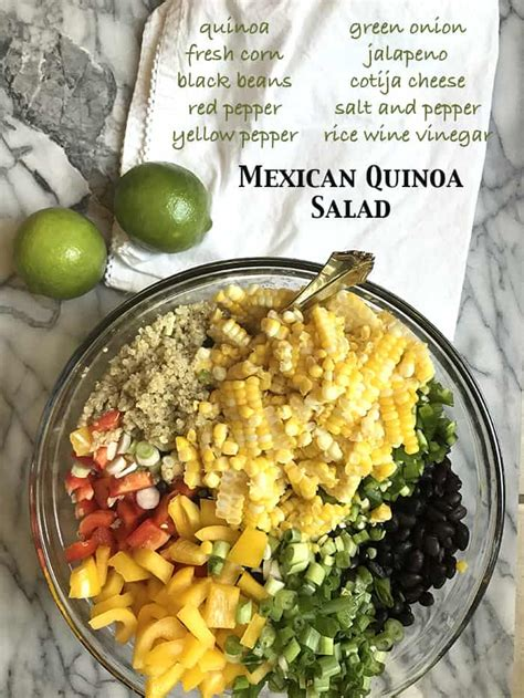 protein quinoa salad mexican quinoa salad with fresh corn suebee homemaker