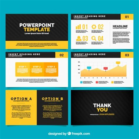 template microsoft powerpoint power point template with infographic elements vector