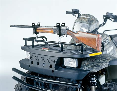 Four Wheeler Gun Rack by Atv Holds All Rack 4 Wheeler Snowmobile Holder Rifle Bow