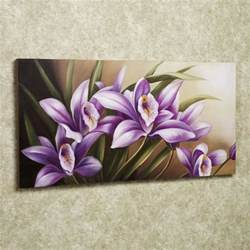 Wild Orchid Home Decor Pin Flower Painting Ideas Canvas Http Www 001galerie Com
