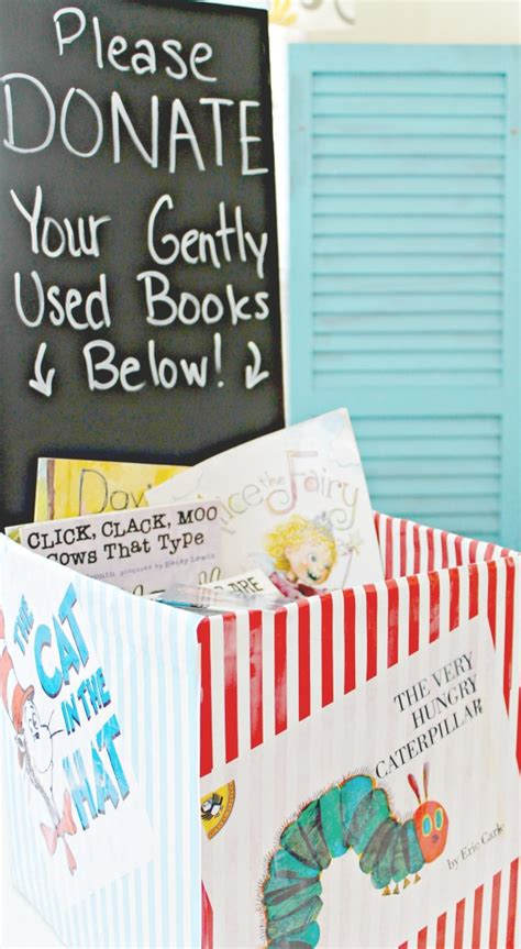 How To Make A Donation Box Out Of Paper - make a book donation station encourage giving in tweens