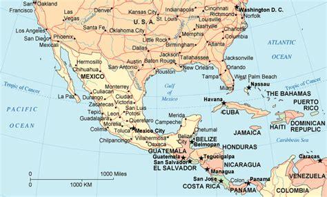 map of south america including mexico mappa di messico