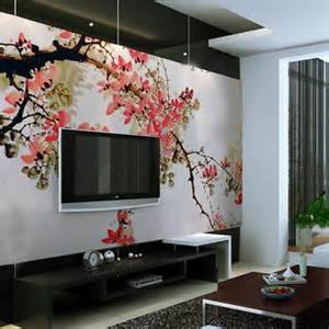10 living room designs with unexpected wall murals decoholic wall mural photo wallpaper xxl tropical waterfall lagoon