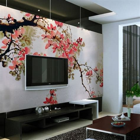 living room murals 10 living room designs with unexpected wall murals decoholic