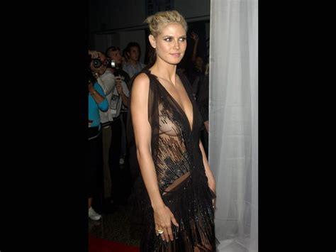 heidi klum see through dress most revealing red carpet dresses ever boldsky com