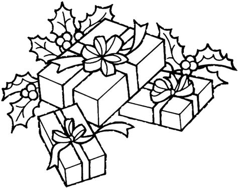 coloring pages of christmas presents christmas gifts coloring pages to kids