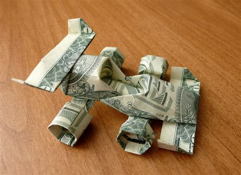 Origami With A Dollar Bill - dollar bill origami race car by craigfoldsfives on deviantart