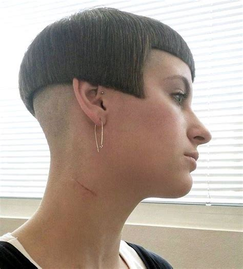 women getting extreme haircuts shaved nape bobs and what s the on pinterest