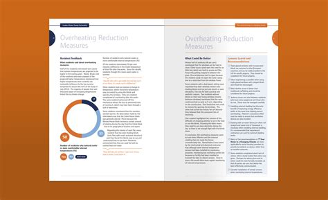 page layout document design london climate change partnership brochure report graphic