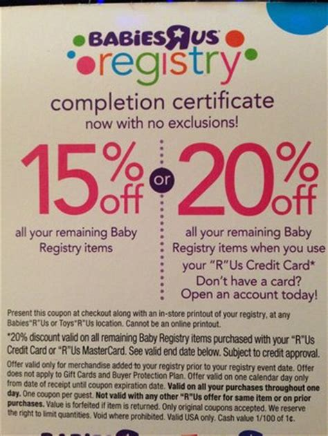 Babies R Us Registry Completion Gift Card - babies r us registry completion coupon questions babycenter
