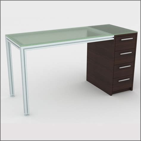 Glass Table With Drawers by Four Drawer Dispensing Table In Glass Look