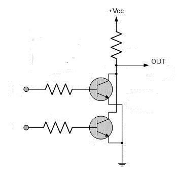 nor gate transistor diagram nor gate from reading table