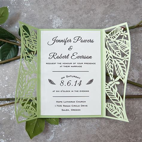 Leaf Themed Wedding Invitations by Wedding Invitations At Wedding Invites