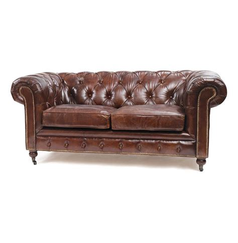 Leather Chesterfield Sofa by Vintage Top Grain Leather Chesterfield Sofa Kathy Kuo Home