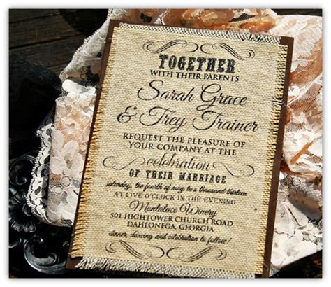 top wedding invitations top 10 burlap wedding invitations