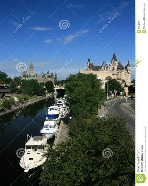 boat graphics ottawa downtown ottawa with boats royalty free stock photo