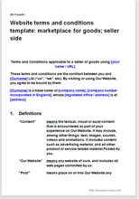 terms and conditions template nz website t c template marketplace for goods seller terms