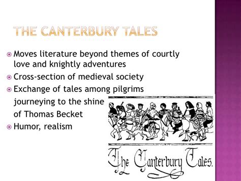 themes of realism literature middle ages canterbury tales