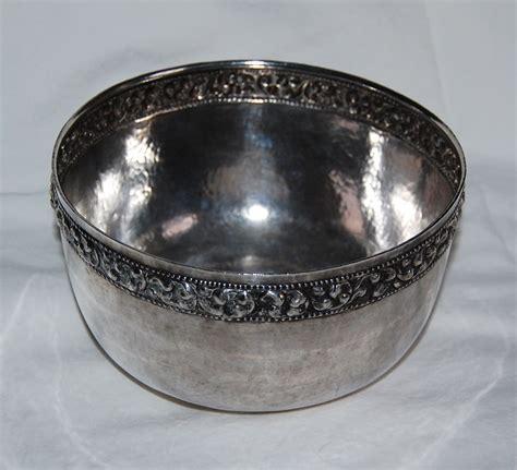 thai silver thai silver bowl solid silver bowl ornate band