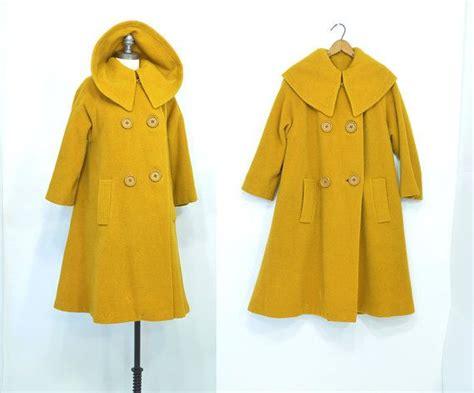50s swing coat mrs emily eustace coat 1950s tweed coat mustard 50s