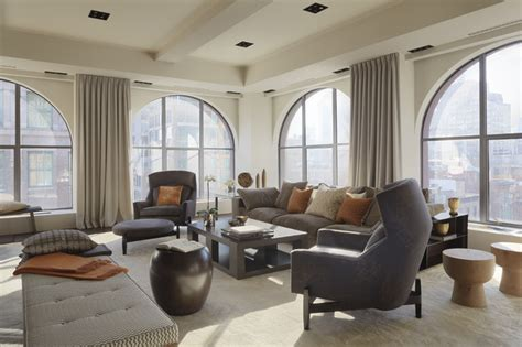 Houzz Modern Living Rooms by Modern Loft Living Room