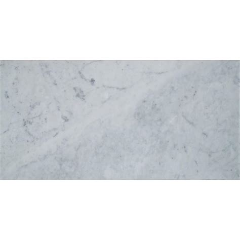 Carrara Marble Floor Tile Ms International Carrara White 6 In X 12 In Polished Marble Floor And Wall Tile 5 Sq Ft