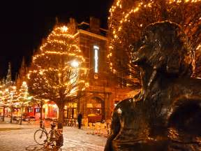 christmas decorations in leuven belgium photo by