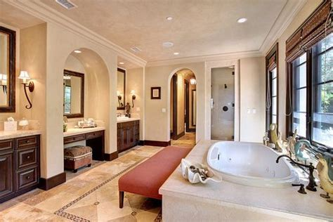big bathrooms big bathroom separate sinks center vanity big tub