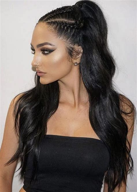 black hair styles for prom 25 best ideas about half cornrows on pinterest braids