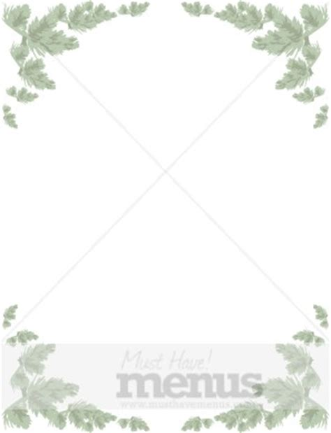 card frames templates pine boughs faded pine menu frame menu borders